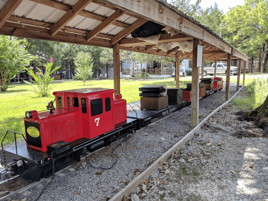 Rock Haven Railroad at the station
